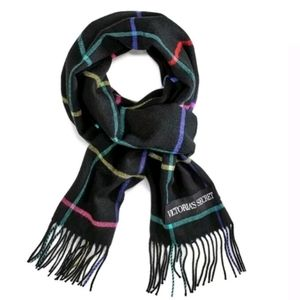 VS Winter Scarf fringed black/multi
